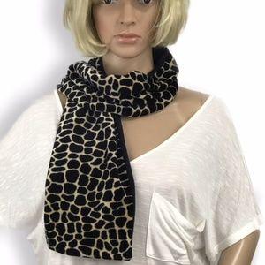 Accessories - Leopard print black brown scarf wrap reversable